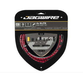 Jagwire 2X Elite Link Set Cable Cambio, rojo